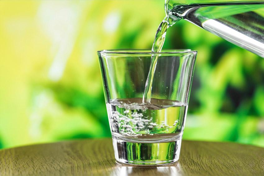 desinfeccion del agua - vaso verde